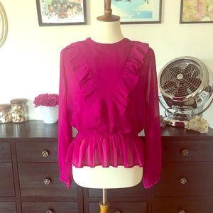 Bright new fuchsia blouse.